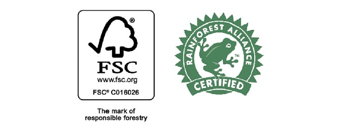 FSC and Rainforest Alliance Certified