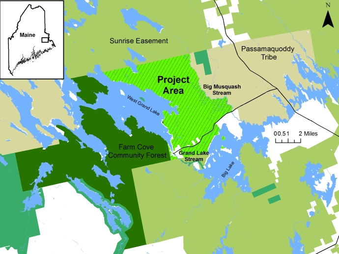 West Grand Lake Community Forest Project Map
