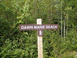 Dawn Marie Beach Trail Sign