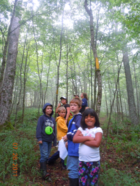 Explorations & Adventures kids hike the Wabassus Mt Trail