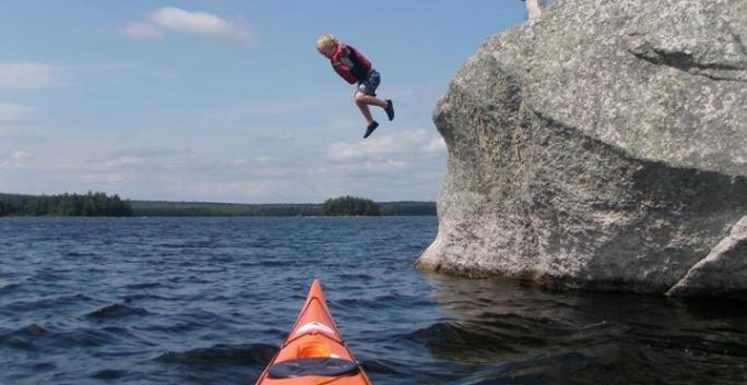 Caribou Rock, West Grand Lake