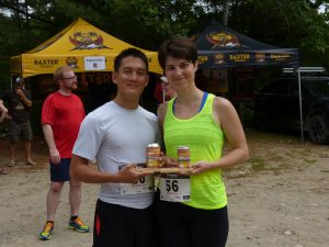 Brian Ho and Paulina Arnold with their awards.