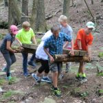 Kids fixing the trail
