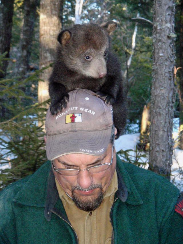 Randy Cross and bear cub