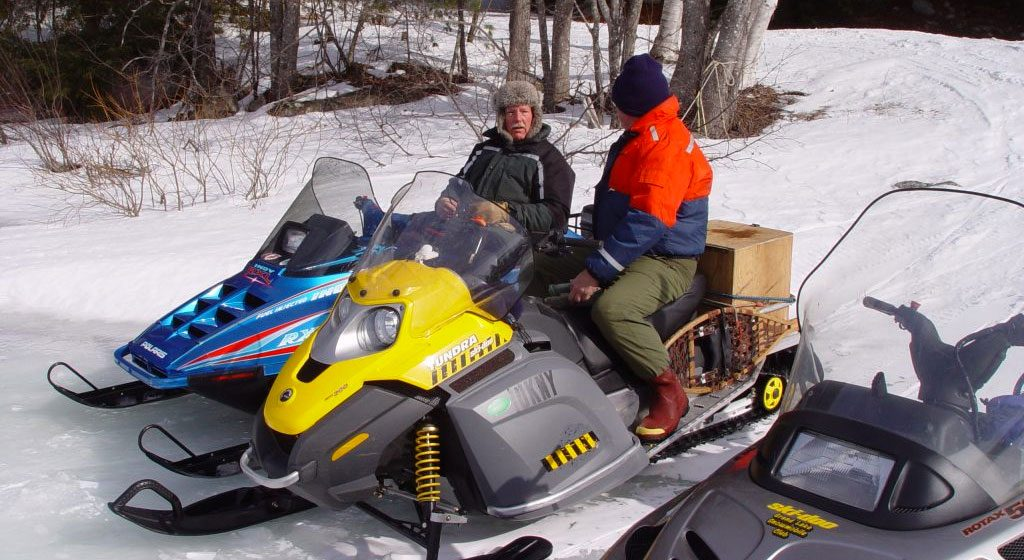 Snowmobiles at Farm Cove